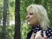 french older gets anal outdoors