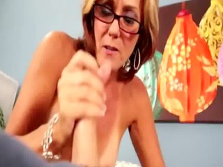 cum hungry attractive mother i manually working