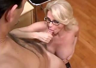 busty older secretary receives fucked in office