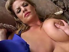 sleeping large breasted milf