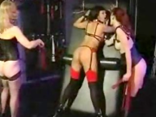ebon slave beauty to two submissive mistresses