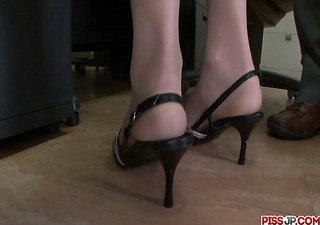stunning, hawt and lengthy legged secretary