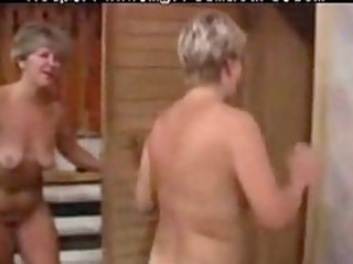 two sexy granny lady with a youthful guy aged