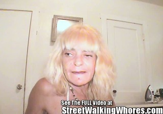 old a-hole whore walks streets with 3 eye