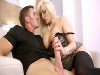 mature nylons chick bangs her boyfriend in her