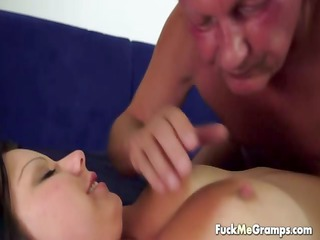 young babe fucked by old pecker