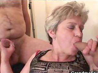 granny threesome action aged older porn granny