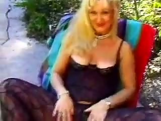 granny drilled in the family backyard