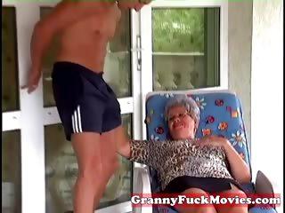 granny eve sucking hard youthful shlong