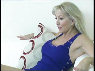breasty mature blond acquires her feet licked and
