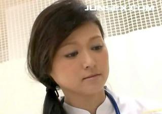 wild japanese nurse handjob and hot fucking