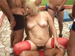 older granny golden-haired victoria gangbang