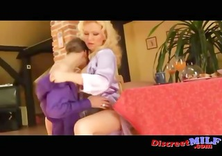 german milf receive fucked by legal age teenager