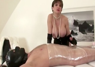 big titted hawt aged in stockings wanking