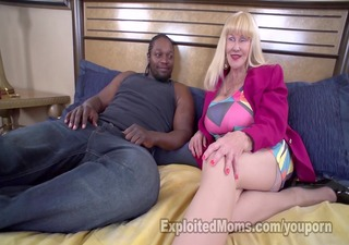 blonde granny tit copulates with her new breasts