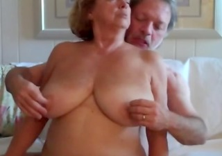 older woman rides husbands shlong