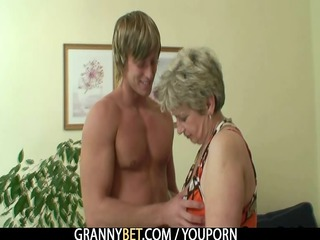 old housewife receives nailed by an youthful guy