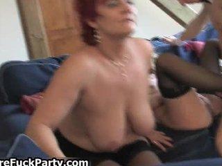 four lascivious older housewifes fucking part0