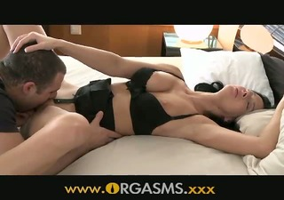 orgasms older woman with big tits is so lewd