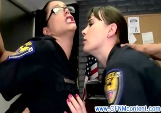 cfnm police honeys demand pussy pounding in high