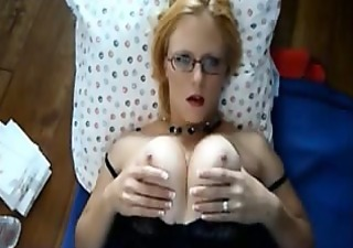 facial on girl with glasses
