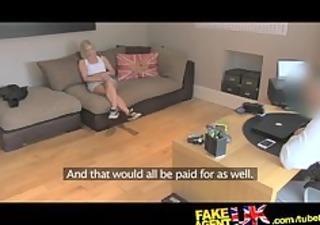 fakeagentuk british blonde milf devours cock for