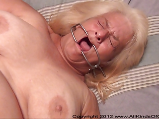 pov anal 50 year old granny wanda gets bound