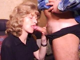 mature amateur wife homemade blowjob with spunk
