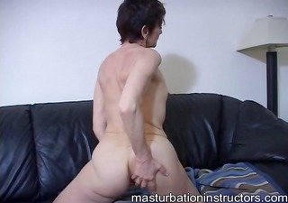 oldie jerk off teacher has gone all the way naked