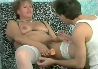 mechanic gets his tools services by a older horny