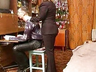 russian mature mommy with schoolboy
