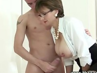 cuckold watches wife give cook jerking throughout