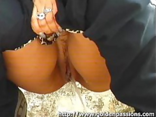 mature redhead peeing on the streets with people
