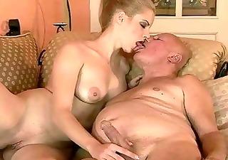 very old granddad fucks youthful girl