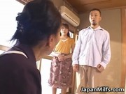 concupiscent japanese milfs engulfing and fucking
