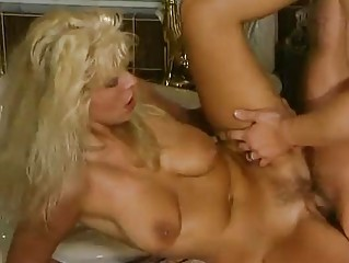 mature german blonde fucked in the bathroom