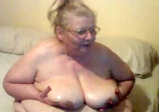 oil on tits on cam site