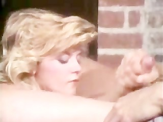 a retro golden-haired boning