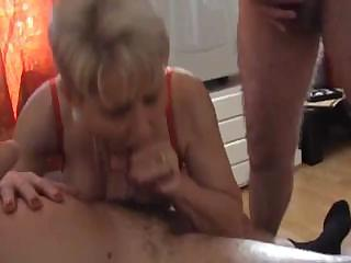 good old granny gets intense double penetration