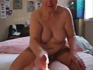 my bitch older aunt jerking my shlong