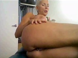 sexually excited mature on cam, with many rings