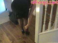 british business woman mature milf wench in dark