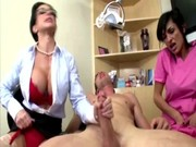 dom cfnm mature jumping on subs cock