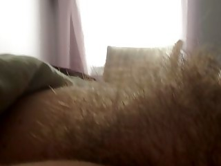 real close shot of the wifes curly pussy.