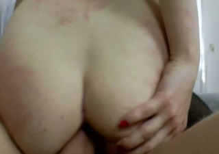 dark brown acquires taut butt drilled and can not