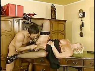german milf three-some