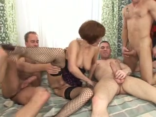 mature merilyn double penetration group sex with