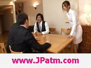 hibik ohtsuki japanese wife bonks in the kitchen