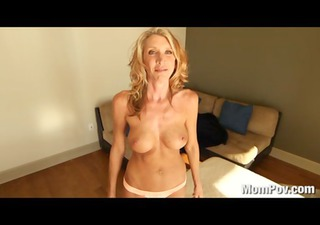 lewd milf copulates and swallows cum