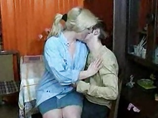 russian mom and guy having a swallow